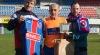 Pepe Pego -el veterano jugador de Os Chaos- fue homenajeado por la directiva del UD Ourense